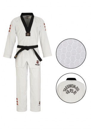 "Taekwondo uniform Matsuru ""Master-V"" – black with Taekwondo embroidery"